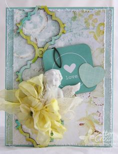 Card by Patter Cross using the new Blue Fern Studios Ombre Dreams papers and the Tangier Page Panel.