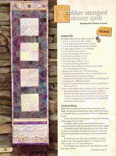 Trilhos jogo americano e toalhas for Create and decorate magazine free