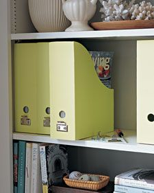 Well-organized closets, storage areas, and office spaces can help you save time, open up your living quarters, and restore beauty and order to your home. Follow our easy ideas for storing anything and everything in your home. office spaces, organizing ideas, storage area, organizing tips, shelv, magazine storage, organization ideas, magazin holder, closet storage