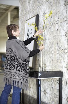 It is the talent of my team at Diana Parrish Studios that make my wallpapers look so stunning!  Here Sharon Spencer is working her styling magic! #dianaparrishphoto #wallpaper