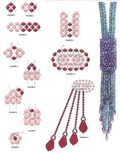 Beaded necklace crystal PATTERN