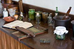 Apothecary Workbench in Old Salem, Winston Salem, North Carolina