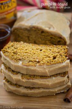 Pumpkin Bread with Maple Glaze