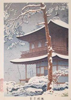 Snow at Ginkakuji by Takeji Asano, 1931