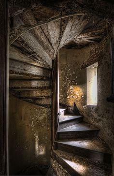 Spiral Staircase in a Castle