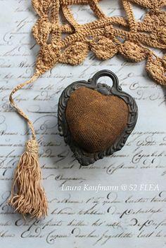 Victorian heart pinkeep