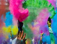 Idea for Color Run for the kids.  With a little set up it might be a fun practice day or maybe a cooperative run with other schools for a fundraiser or something.