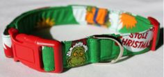 Gifts for Pets:  Dr. Seuss How the Grinch Stole Christmas Dog Collar @ Etsy