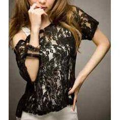 Blusas con encaje para invierno 2012 4