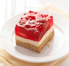 Strawberry-Cream Cheese Dessert-This is an awesome recipe! Low Fat, Low Calorie, Low Cholesterol and a Diabetic as well as a Weight Watchers Friendly 3 PointsPlus+ recipe.