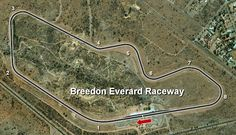 Breedon Everard Raceway in Bulawayo where motor races are held. Length: 3 478km. Turns: 8. GPS Coordinates: -20.108611 28.570278 #motorsport #racing #cars