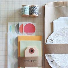parcel + paper