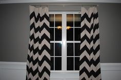 Make your own chevron curtains.