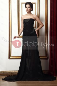 Concise A-Line Strapless Floor-Length Taline's Evening Dress