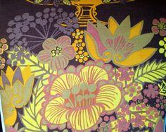 60s swedish designer fabric. Boras Cotton, Marta-Lena Bjerhagen. Pompeja