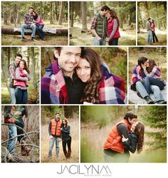 Rustic Forest Woods Engagement Session by Jacilyn M