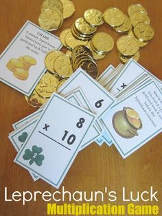 This FREE leprechaun's luck game makes practicing multiplication facts loads of fun! #StPatricksDay #math #freebies