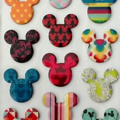 Mickey Mouse epoxy stickers by Hallmark... Now available at Walmart.