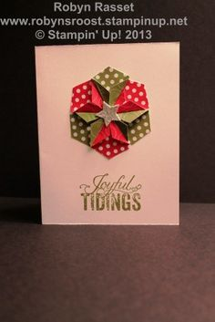 stampin up hexagon punch card | Hexagon Punch Christmas