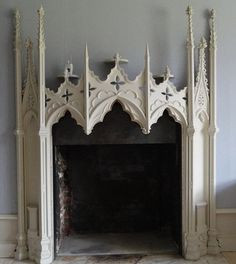 Large Gothic Walk In Fireplace
