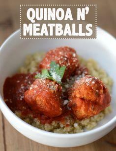 Quinoa n' Meatballs #glutenfree
