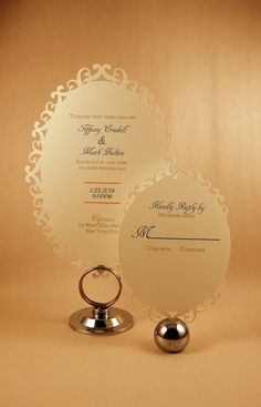 Oval Die Cut Invitation