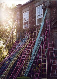 Pastel ladders.