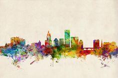 Providence Rhode Island Skyline Digital Art
