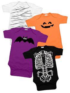 Spooky Baby Halloween 4 One Piece Set