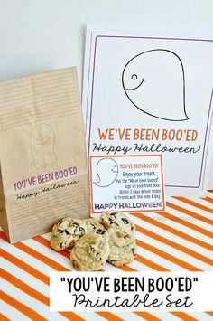 You've Been Booed Halloween Printable Set