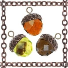 Making acorn charms using acorn bead caps, round beads and head pins is an easy acorn craft idea and has been jewelry trend for a couple of years.    After...