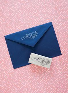 state-shaped return address stamps!