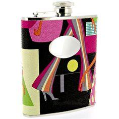 Fashionista Hip Flask (Engravable)