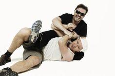 Ricky Gervais and Karl Pilkington