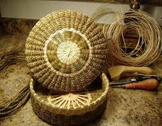 ALGONQUIN FIRST NATIONS handmade sweetgrass basket...from my part of the world...beautiful to see and the fragrance is heavenly....reminds me of summer in childhood