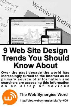 New Blog Post - Web Site Design Trends #webdesign #websynergies #blog #web