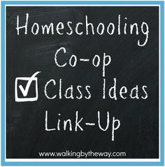 Walking by the Way's Homeschooling Co-op Class Ideas Link Up
