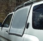 Magna Screen - The minivan camping necessity.  Keep the bugs out of your vehicle while you sleep