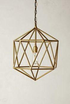 brass geo pendant