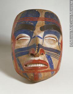 L'art haïda - Les voies d'une langue ancienne - Masque, anonyme, Côte du Nord-Ouest, Autochtone: Haïda, 1800-1850, 19e siècle // Haida Art - Mapping an Ancient Language -   Mask, anonymous, Northwest Coast, Aboriginal: Haida, 1800-1850, 19th century