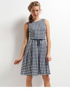 Emerge Pleated Full Skirt Dress