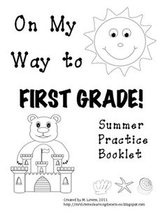 This 36 page packet is intended as a review exercise for kindergarteners to complete over the break, prior to entering first grade (or during the first few weeks of 1st grade). The  majority of this packet is aligned with Common Core State Standards. There are also a few introductory skills for first grade. The entire packet is in black and white- perfect for reproducing. The kids will enjoy coloring the images as well!