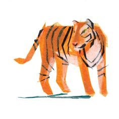 Jack Tiger - Print by Tiny Fawn #etsy #print #kids #nursery #animals #zoo