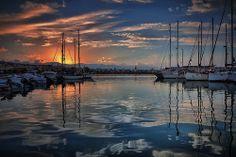 February dusk at the Marina of Rethymno in Crete, Greece. Photo by @Vicky Tsikina.
