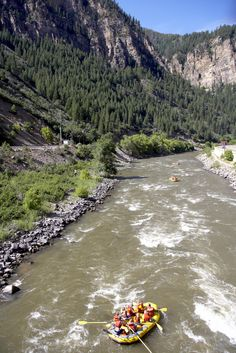 River rafting Colorado River.