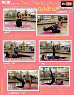 Denise Austin: Abs & Buns Pilates Workout ....about 15 min.