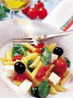 Ensalada de pasta con tomates