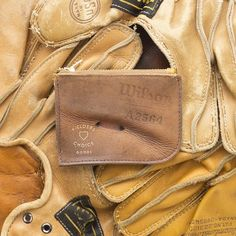 Wallets & belts from upcycled catcher's mitts: Fielder's Choice Goods