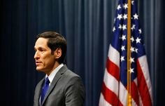 "Tom Frieden, the director of the C.D.C., addresses the media on the Ebola case, on October 5th. Amy Davidson argues that health authorities ""can't just keep repeating that simple competence, prudence, and sympathetic good sense are the answers, while exhibiting none of those traits."" http://nyr.kr/101FjIy (Photograph by Kevin C. Cox/Getty)"