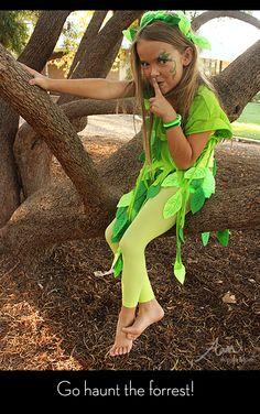 No-Sew Leaf Fairy Costume by Brenda Ponnay for Alphamom.com